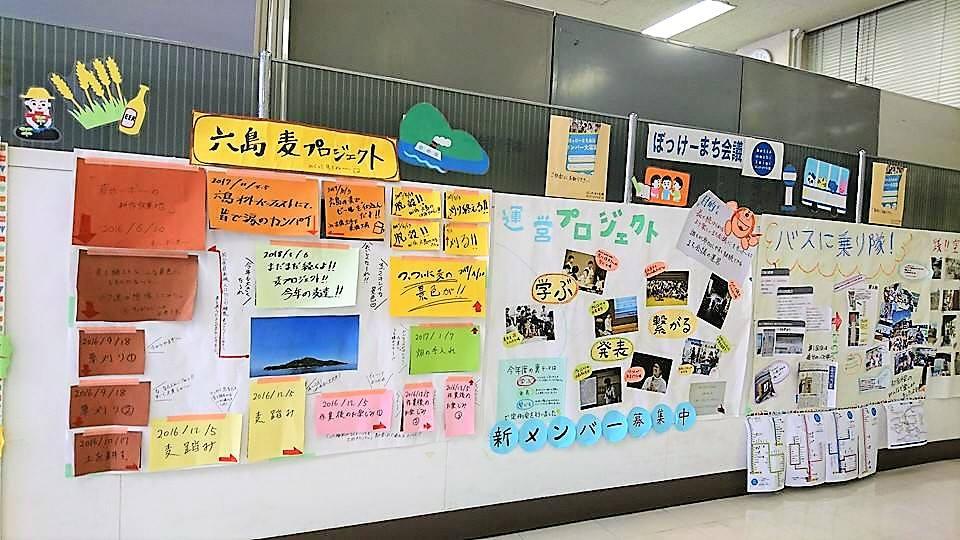 文化祭プロジェクト紹介展示@笠岡市役所