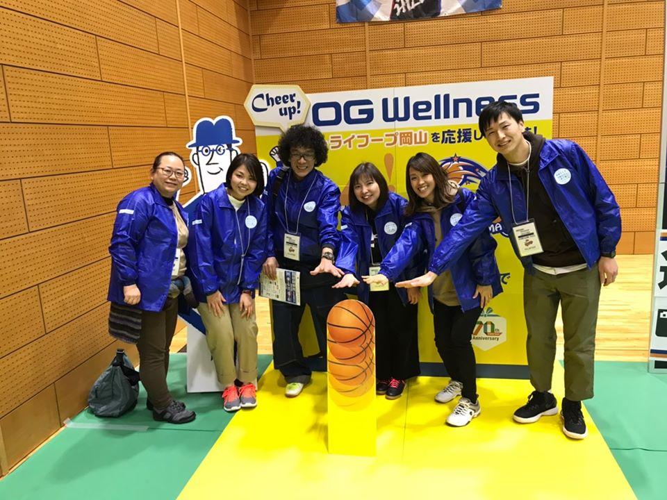 トライフープ岡山の試合でボランティアスタッフとして参加しました!